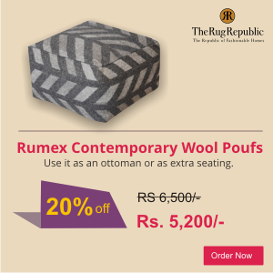 contemporary poufs ottoman wool stool pouf