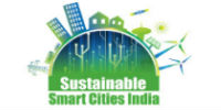 Sustainable smart city logo