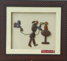 Beautician – Natural Pebble Stone Wall Art