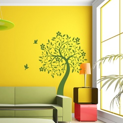 Blooms and Leaf Wall Decal ( KC137 )