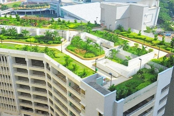 Roof Garden Design Idea, Source: Lushome.com