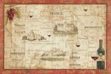 Wine Map Poster
