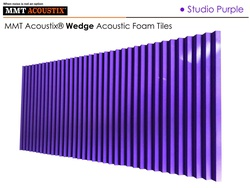 MMT Acoustix® Wedge Acoustic Panels Purple