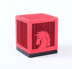 Sustainable Handmade Sylvn Studio Cheval Pink Table Lamp