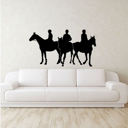 Three Jockey Wall Decal ( KC292 )