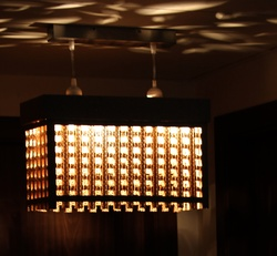 Sustainable Handmade Sylvn Studio Lattice Big Hanging Lamp