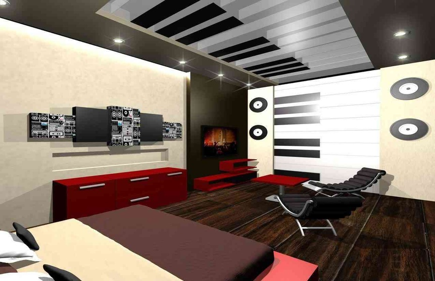 Music themed bedroom1