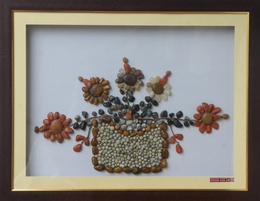 Wonderful Plant – Natural Pebble Stone Wall Art
