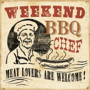 Weekend BBQ Chef Poster