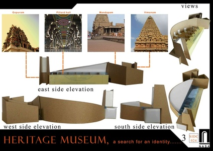 Model using elements of a temple