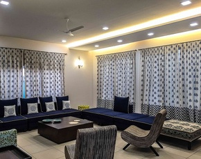 Living Room Curtain Idea by Interior Designer: Amit Bapat