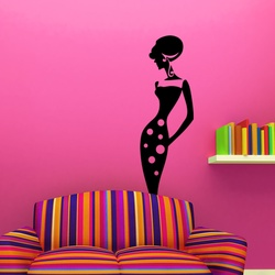 Stylish Lady Wall Decal ( KC090 )