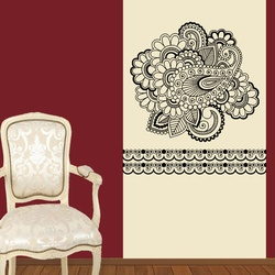 Conventional Floral Art Wall Decal ( KC188 )