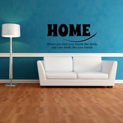 Home Quotes Wall Decal ( KC372 )
