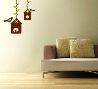 Bird House Wall Decal ( KC047 )