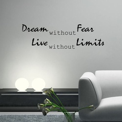 Dream without Fear Wall Decal ( KC377 )