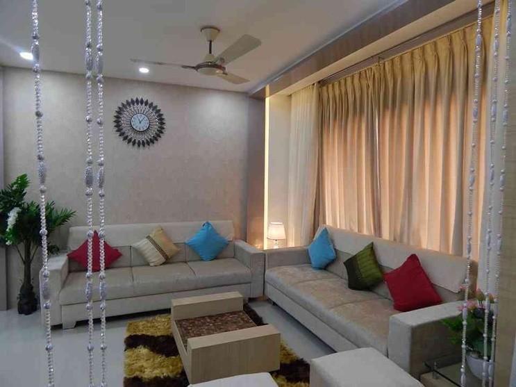 1200 sq feet 2bhk flat by rucha trivedi interior designer for Living room interior bangalore