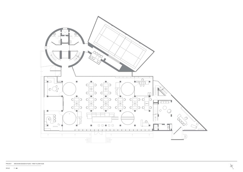 First Floor Plan for Archohm Studio