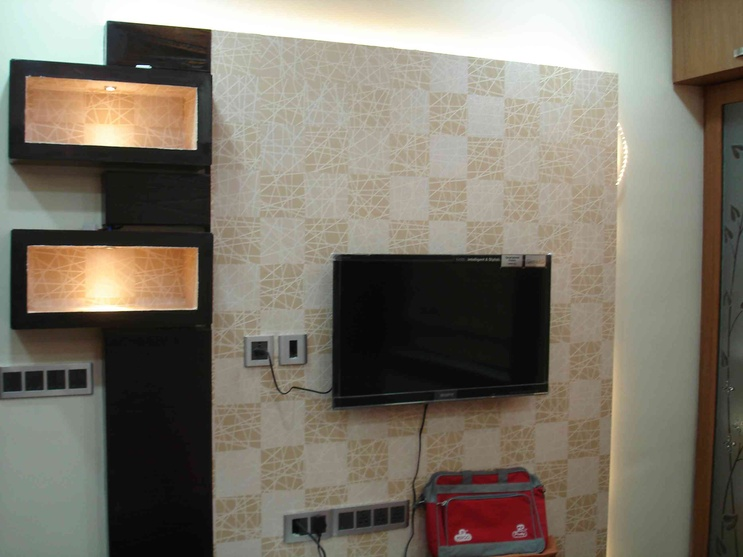 TV PANEL WITH WALL PAPER FINISH