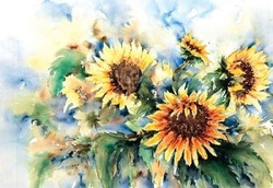 A bouquet of sunflowers Poster