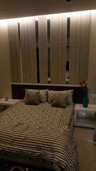 Bedroom  with back panel