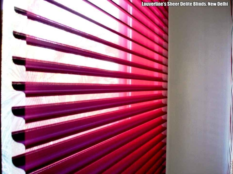 Colorful blinds at Home decor