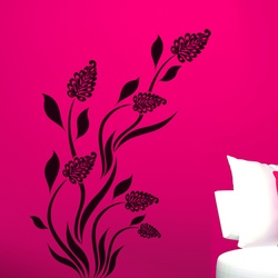 Grass Flowers Wall Decal ( KC084 )