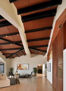Living Area with Traditional Hut Style Ceiling