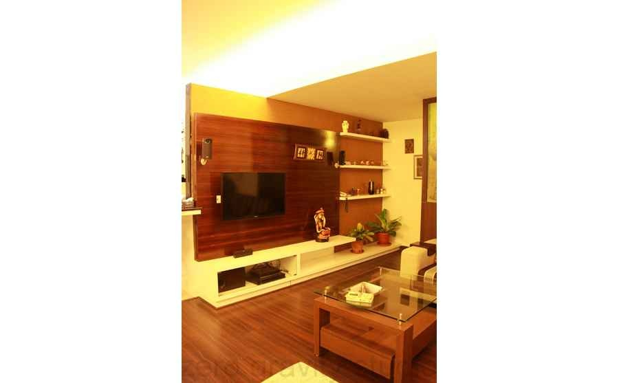 The Living Room - Wooden LED unit