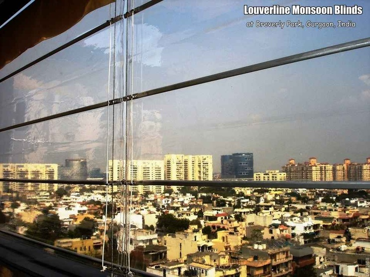 Transparent Monsoon Blinds
