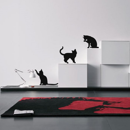 Active Cats Wall Decal ( KC321 )