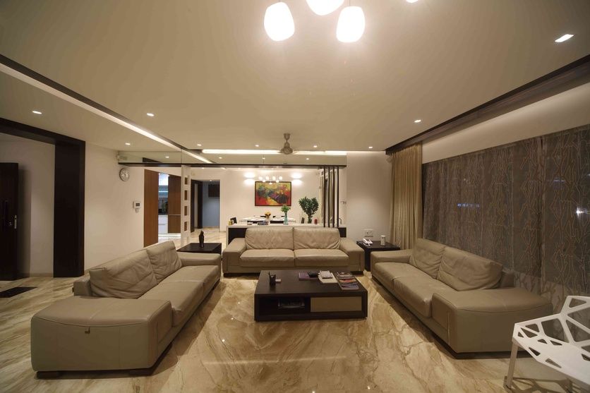 Luxury and space: The living room