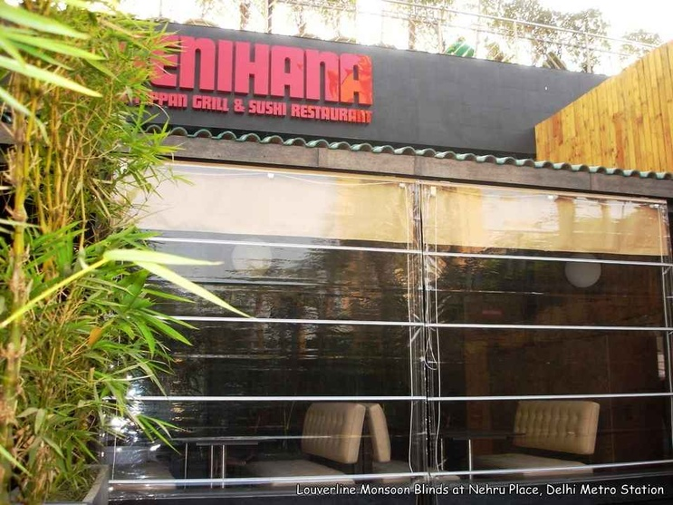 Monsoon Blinds used inside a Restaurant interiors