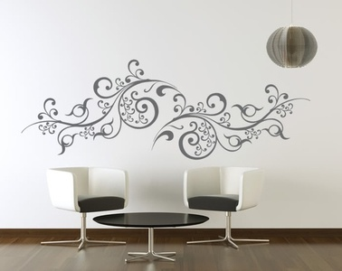 Scroll Vines Wall Decal