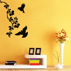 Birds and Bloom Wall Decal ( KC276 )