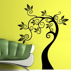 Curved Tree Wall Decal ( KC106 )