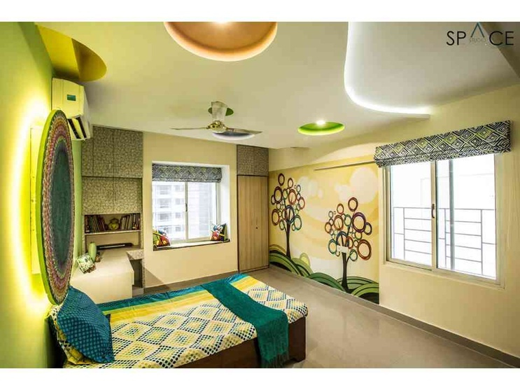Ezhilagam - Kid's Room , Designed and executed by Space Studio Chennai , professional photography by Charles Photography