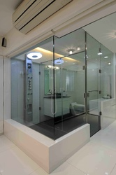 Luxury Master Bathroom with Glass Doors