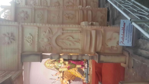"""aakshardham temple "" material use is mdf sheet above it thermocol work....."