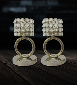 Buy Candle Stand Crystal Ring (Set of 2)
