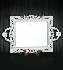 Serving Tray with Royal Blue Stones