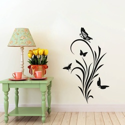 Butterflies On Grass Wall Decal ( KC307 )