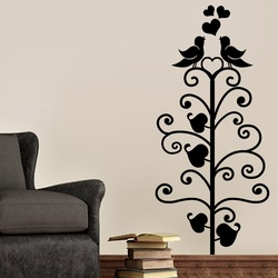 Love Birds on Tree Wall Decal ( KC142 )