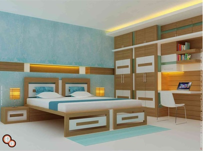Bedroom Interiors--- Khanna residence