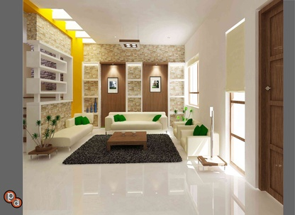 Living room -Raj residency