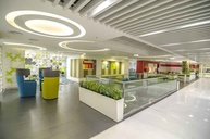 Modern Office Reception Design- Microsoft IDC office