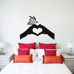 Hand Heart Wall Decal ( KC301 )