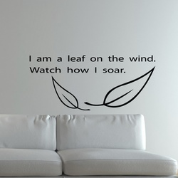 Leaf on the Wind Wall Decal ( KC134 )