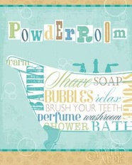 Bathroom Words Tub I Poster