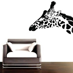 Giraffe Head Wall Decal ( KC194 )